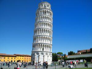 Unintended tilt of Pisan Tower